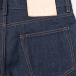 Мужские джинсы Han Kjobenhavn Tapered 17 Oz Dark Blue Raw Unwashed фото- 3