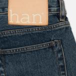 Мужские джинсы Han Kjobenhavn Tapered 17 Oz Medium Blue фото- 4