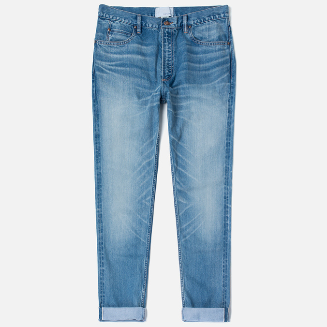 Nanamica 5 Pockets Tapered Bleach Men's Jeans Wash