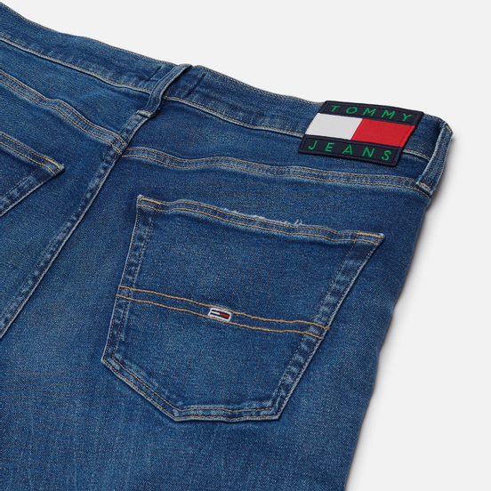 Мужские джинсы Tommy Jeans Rey Relaxed Tapered Fit 12.5 Oz Save Mid Blue Star