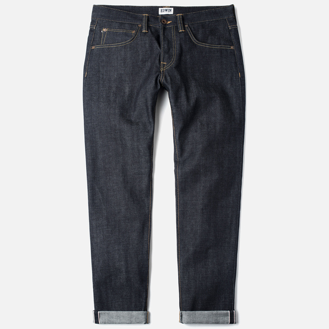 Edwin ED-55 Relaxed Red Selvage Men's Jeans Blue Unwashed