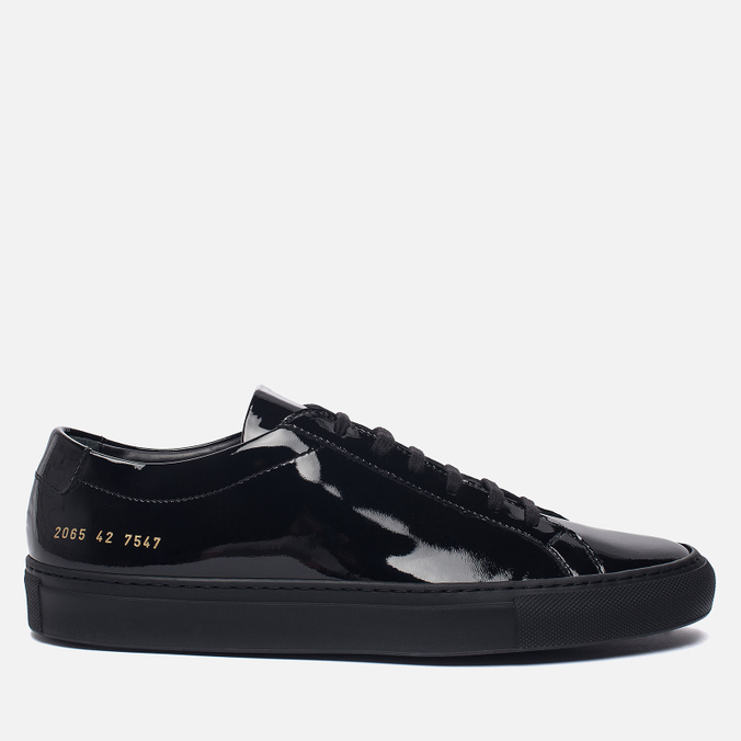 Мужские кеды Common Projects Achilles Low Gloss Black
