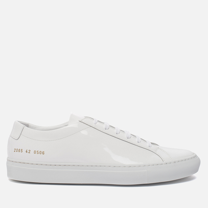 Мужские кеды Common Projects Achilles Low Gloss White