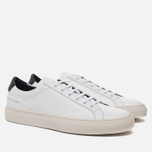 Мужские кеды Common Projects Achilles Retro Low White фото- 2