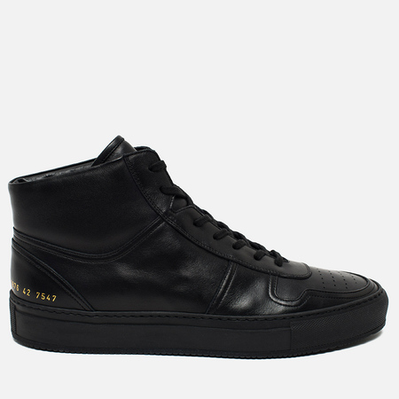 Мужские кеды Common Projects B-Ball High Leather Black
