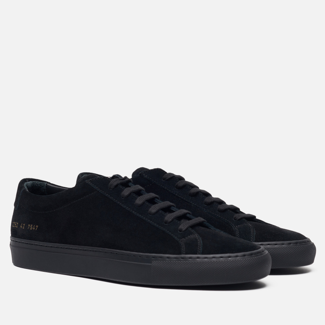 Мужские кеды Common Projects Original Achilles Low Suede Black