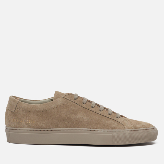 Мужские кеды Common Projects Original Achilles Low Suede Taupe