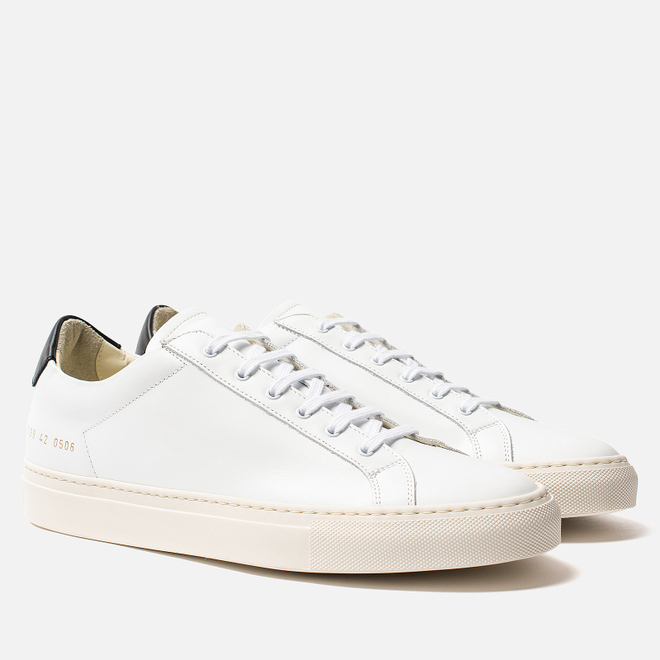 Мужские кеды Common Projects Retro Low 2199 White/Black