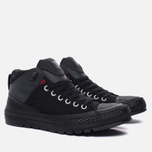 Мужские кеды Converse All Star Street Boot High Black/Terra Red/Almost Black фото- 1