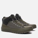 Мужские кеды Converse All Star Street Boot High Medium Olive/Black фото- 1