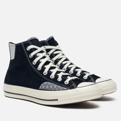 Мужские кеды Converse Chuck 70 High Black/Grey Melange