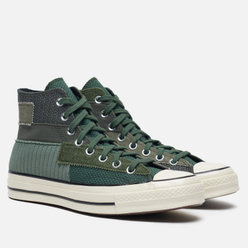 Мужские кеды Converse Chuck 70 High Mono Patchwork Forest/Egret/Black