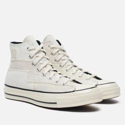 Мужские кеды Converse Chuck 70 High Mono Patchwork White/Egret/Black