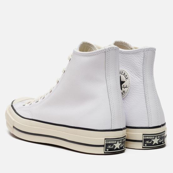 Мужские кеды Converse Chuck 70 Leather White/Black/Egret