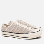 Мужские кеды Converse Chuck Taylor All Star 70 Woven Suede White фото- 1