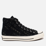 Мужские кеды Converse Chuck Taylor All Star Hi 70 Woven Suede Black фото- 0