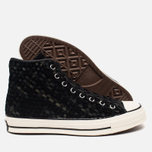 Мужские кеды Converse Chuck Taylor All Star Hi 70 Woven Suede Black фото- 2