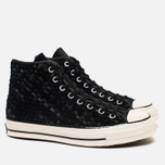 Мужские кеды Converse Chuck Taylor All Star Hi 70 Woven Suede Black фото- 1