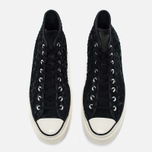 Мужские кеды Converse Chuck Taylor All Star Hi 70 Woven Suede Black фото- 4