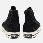 Мужские кеды Converse Chuck Taylor All Star Hi 70 Woven Suede Black фото- 3