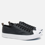 Мужские кеды Converse Jack Purcell Rubberized Canvas Black фото- 1