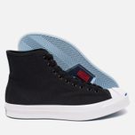 Converse Jack Purcell Signature Men's Plimsoles Black Canvas Hi photo- 2