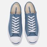 Мужские кеды Converse Jack Purcell Signature Blue Coast/White/White фото- 4