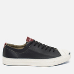 Мужские кеды Converse Jack Purcell Tumbled Leather Remastered Black фото- 0