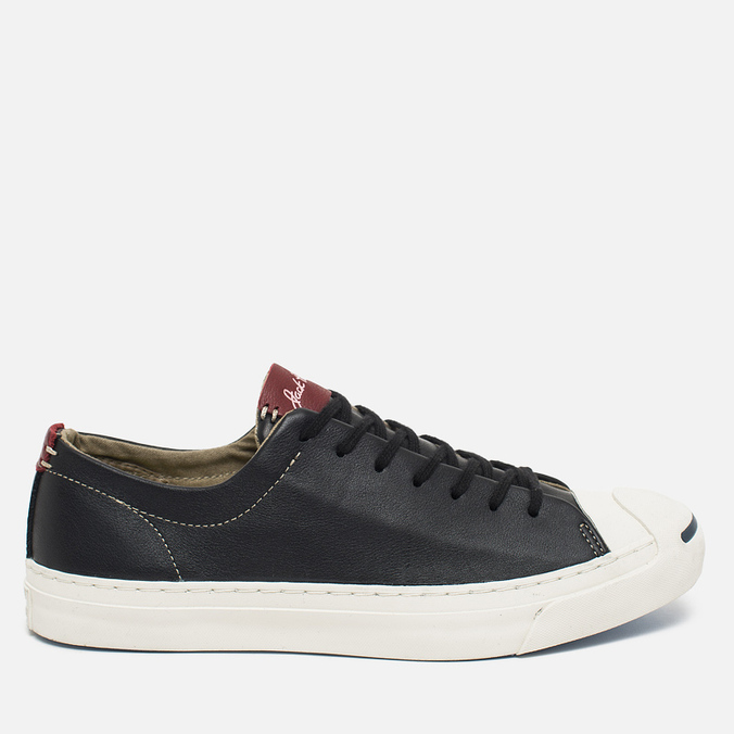 Converse Jack Purcell Tumbled Leather Remastered Men's Plimsoles Black