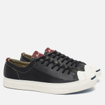 Мужские кеды Converse Jack Purcell Tumbled Leather Remastered Black фото- 1