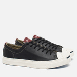 Converse Jack Purcell Tumbled Leather Remastered Men's Plimsoles Black photo- 1