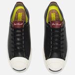 Мужские кеды Converse Jack Purcell Tumbled Leather Remastered Black фото- 4