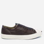 Мужские кеды Converse Jack Purcell Tumbled Leather Remastered Burnt Umber фото- 0