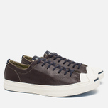 Мужские кеды Converse Jack Purcell Tumbled Leather Remastered Burnt Umber фото- 1