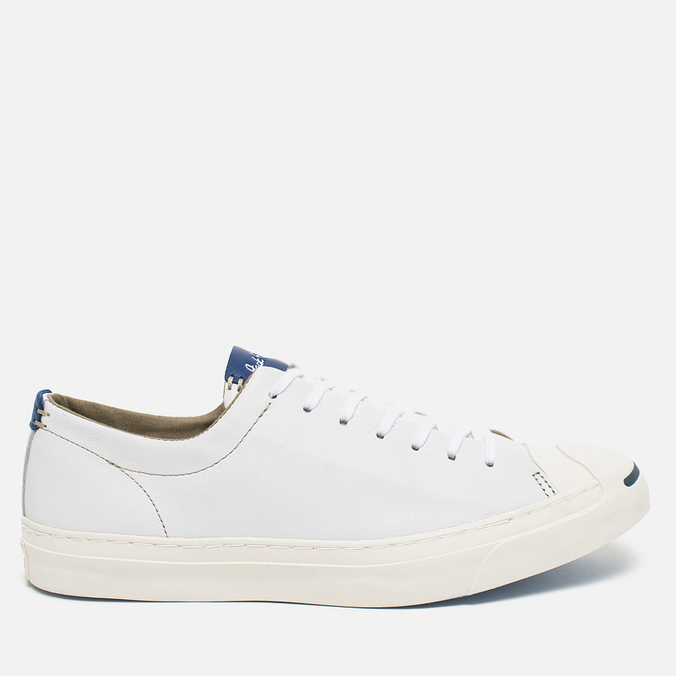 Converse Jack Purcell Tumbled Leather Remastered Men's Plimsoles White
