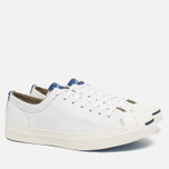 Мужские кеды Converse Jack Purcell Tumbled Leather Remastered White фото- 1