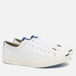 Converse Jack Purcell Tumbled Leather Remastered Men's Plimsoles White photo- 1