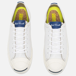 Мужские кеды Converse Jack Purcell Tumbled Leather Remastered White фото- 4