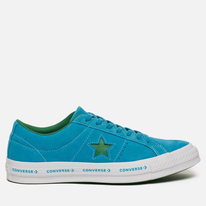 Мужские кеды Converse One Star Pinstripe Hawaiian Ocean/Jolly Green