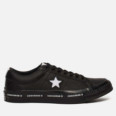 Мужские кеды Converse One Star Pinstripe Leather Black/White/Black
