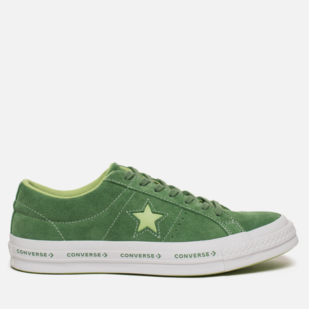Мужские кеды Converse One Star Pinstripe Mint Green/Jade Lime/White