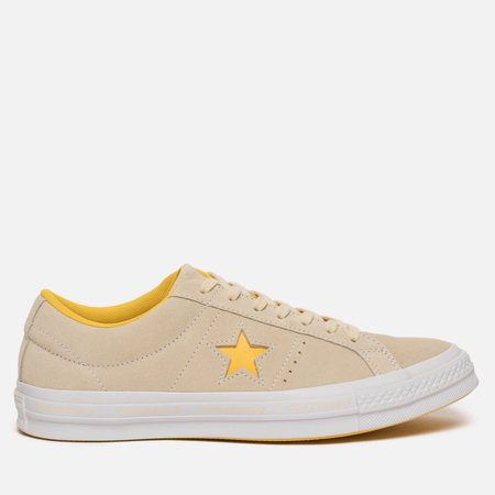 Мужские кеды Converse One Star Pinstripe Vanilla/Solar Power/White