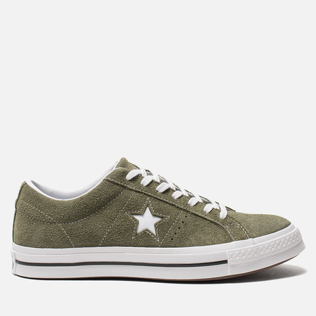 Мужские кеды Converse One Star Vintage Suede Low Field Surplus/White/White