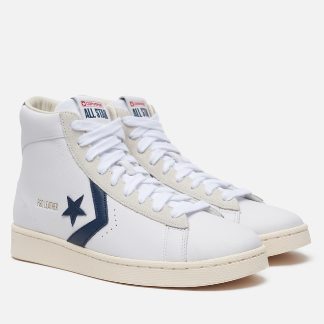 Мужские кеды Converse Pro Leather Gold Standard High White/Obsidian/Egret