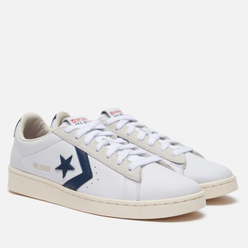 Мужские кеды Converse Pro Leather Gold Standard Low White/Obsidian/Egret
