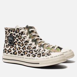 Мужские кеды Converse x Brain Dead Chuck Taylor All Star 70 High Egret/Black/Multi