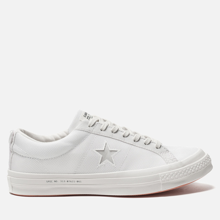 Мужские кеды Converse x Carhartt WIP One Star OX White/White/Vibrant Orange