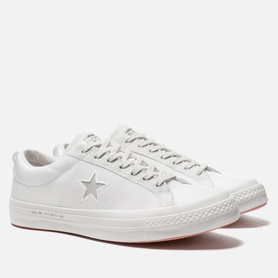 Мужские кеды Converse x Carhartt WIP One Star OX White/White/Vibrant Orange