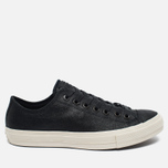 Мужские кеды Converse x John Varvatos Chuck Taylor All Star II Coated Leather Low Black/White фото- 0