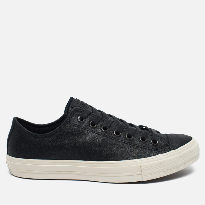 Мужские кеды Converse x John Varvatos Chuck Taylor All Star II Coated Leather Low Black/White